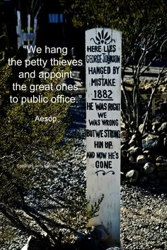 #Election day #Aesop commentary and grave in #Tombstone's #boothill If this #quotograph speaks to you, please share with others