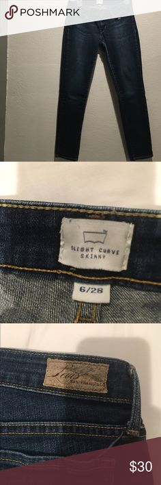 Levi's Slight Curve Skinny Jeans These jeans hug your curves very well . The inseam is 27in . Levi's Jeans Skinny