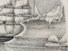 David Smith Scrimshaw - Searching Arctic Whaler - Scrimshaw Collector