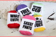 Funny Grippy Toddler Socks