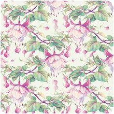 fuchsia pattern by Natalia Tyulkina, via Behance