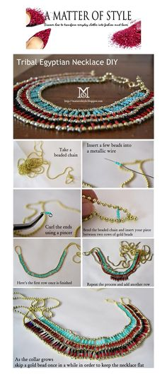 Tribal Egyptian Necklace #DIY by A Matter of Style
