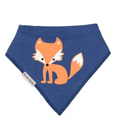 This Bazzle Baby Blue & Orange Fox Bandanna Bib by Bazzle Baby is perfect! #zulilyfinds