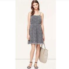 Loft Speckled Chiffon Cami Dress - Navy!