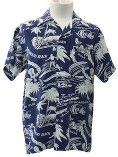 1950's Mens/Boys Hawaiian Shirt
