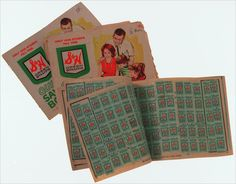 green stamps...we would save up and then go to the green stamp store and cash them in for something good!