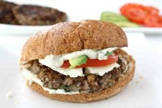 Jamaican bean burger