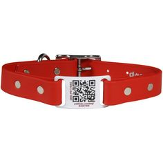 Waterproof Soft Grip ScruffTag QR Code Dog Collars - Comes with free membership to PetHub! $34 at www.dogids.com