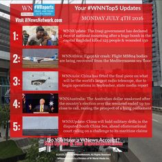 Here's your #WNNtop5 stories to bring you closer to the news you care about, brought to you by #WNewsNetwork