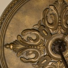 beautiful large ceiling medallion | ceiling decor.  By Priory Home Atelier