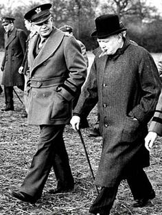 General Dwight Eisenhower, and Prime Minister Winston Churchill inspect a U. glider and paratroop invasion demonstration prior to the D-Day invasion of Normandy in 1944 / Everett Collection / Bridgeman Images Winston Churchill, Churchill Quotes, American Presidents, Us Presidents, American History, Greatest Presidents, World History, World War Ii, Ww2 History
