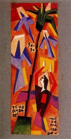 Sube, os alcanzarè mais ke alas tengo - Xul Solar (Oscar Agustin Alejandro Schulz Solari) - argentino (1887-1963)