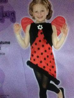 Childs Miss Ladybug Girls Cute Costume 8-10