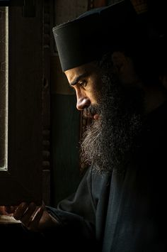 Orthodox Monk, Oasa Monastery, Romania by Grigore Roibu Russian Orthodox, Cylinder Shape, Orthodox Christianity, Christian Art, Beautiful Soul, People Around The World, Portrait Photography, Film, Greece