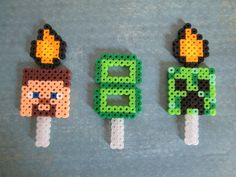 Minecraft Inspired Cupcake or Cake Toppers Creeper Steve Age Personalized