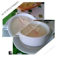 #FD1501 #WesternFood  蒜蓉面包和汤
