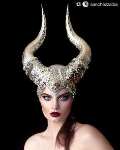 #Repost @sanchezzalba with @repostapp ・・・ TODAY'S DATE: It's October 1st and hence the perfect time to start considering your Halloween costume! Here, trés jolie Caitlin @caitlinlawson does a magnificent Maleficent with astonishing bespoke horns by Chernobyl Show Design @chernobyl_show_design (we HIGHLY recommend checking out their IG for more astounding phantasmagorical creations). Perfect pout in ruby-red by Noel @noelnicholsmua and tousled tendrils by Juanita @juanitalyon! #maleficent…