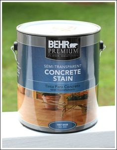 Concrete Patio Pavers - concrete stain ideas for an update!