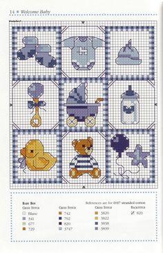 Baby boy diy cards for kids 58 New Ideas Baby Cross Stitch Patterns, Cross Stitch For Kids, Cross Stitch Boards, Cross Stitch Baby, Cross Stitch Designs, Baby Embroidery, Cross Stitch Embroidery, Embroidery Patterns, Baby Motiv