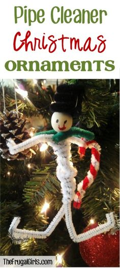 Pipe Cleaner Ornaments ~ from TheFrugalGirls.com ~ the kids will love making these easy handmade Christmas ornaments using pipe cleaners! #thefrugalgirls