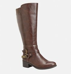 Make a statement with a new tall boot for fall in wide width sizes like the… Stretch Knee High Boots, Brown Knee High Boots, Brown Riding Boots, How To Stretch Boots, Brown Boots, Black Boots, Faux Fur Boots, Leather Boots, Vegan Boots