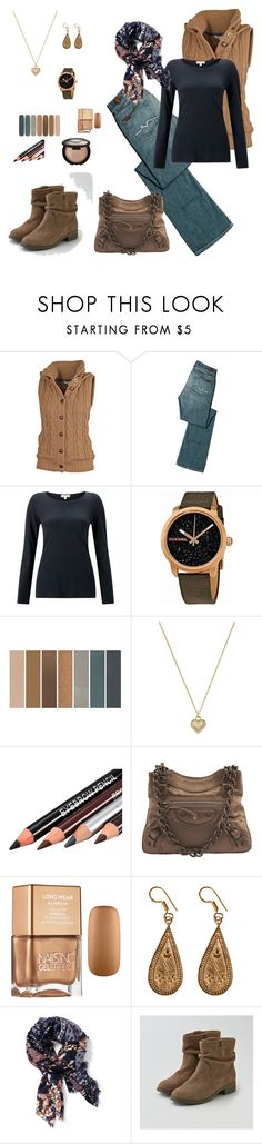 """fall / winter"" by karen-powell ❤ liked on Polyvore featuring Fat Face, 7 For All Mankind, Jigsaw, Diesel, Michael Kors, Balenciaga, Urbiana, Old Navy, American Eagle Outfitters and Becca"