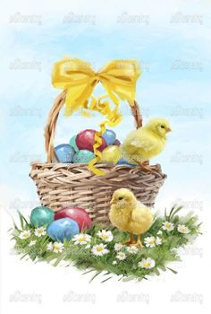 Easter Art, Easter Crafts, Easter Bunny, Easter Chick, Happy Easter, Ostern Wallpaper, Easter Colouring, Easter Pictures, Diy Ostern