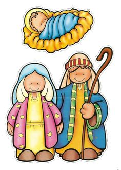 photograph relating to Nativity Clipart Free Printable named 376 Perfect nativity printables shots within 2017 Xmas