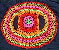 Ravelry: Crochet Me A Rainbow Circle Vest pattern by Spider Mambo