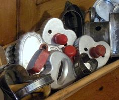 My Mom had these cookie cutters Love the wooden handles