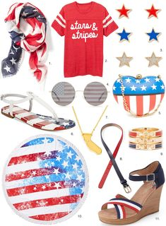 July 4th American Flag Accessories | Giveaway – Sydne Style