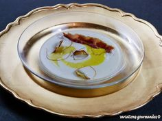 Soupe de topinambours, sabayon au Beaufort (d'après Emmanuel Renault, le Flocon de Sel à Megève)