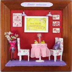 Dollhouse Miniature DIY Kits Lover's Restaurant