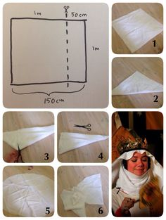 Elinas veil and wimple cutting tutorial