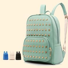Cool! Retro Mint Green Rivet School Backpack just $34.9 from ByGoods.com! I can't wait to get it!
