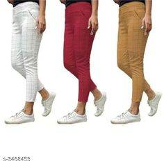 Jeggings Fashionable Lycra Women's Jeggings (Pack Of 3) Fabric: Lycra Size: Up To 28 in To 34 in ( Free Size ) Length: Up To 38 in Type: Stitched Description: It Has 3 Pieces Of Women's Jeggings Pattern:  Checkered Country of Origin: India Sizes Available: Free Size, 28, 30, 32, 34, 36 *Proof of Safe Delivery! Click to know on Safety Standards of Delivery Partners- https://ltl.sh/y_nZrAV3  Catalog Rating: ★4 (5278)  Catalog Name: Athena Fashionable Lycra Women'S Jeggings Combo Vol 18 CatalogID_482677 C79-SC1033 Code: 706-3468453-
