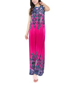 Look what I found on #zulily! Pink Paisley Maxi Dress - Plus #zulilyfinds