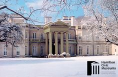 Dundurn Castle National Historic Site in winter Mary Christmas, Christmas Holidays, Historical Sites, Holidays And Events, Ontario, Attraction, Castle, Community, Mansions