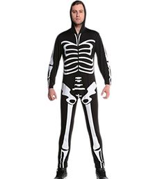 Eternatastic Halloween hoody Skeleton Costume Skull Bone Adult Party Dress Male -- Awesome products selected by Anna Churchill