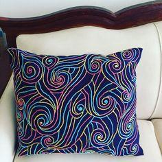 "Mar Pillow 🌊  55cmx45cm/ 21""x17"" Handmade Pillows by Mar 🛋🛋 Cojines hechos a mano por Mar.  www.marlifeshop.com Ventas WhatsApp 📲 WhatsApp (507)62523992 #hechoamano #handmade #panama #panamacity #marlifeshop #decoradorespanama #onlineshop"