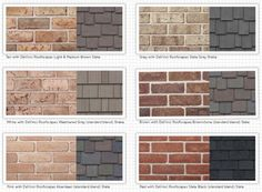 exterior house color schemes with red brick - Google Search