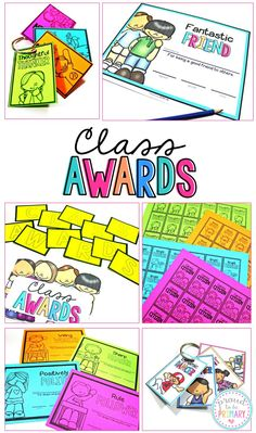 Classroom awards can be used daily as part of your classroom management system. Awards make the perfect reward for your students' hard work and great as end of the year gifts and as brag tags. #classroommanagement #behaviormanagement #classroomawards #bragtags #teachingidea #rewardsforkids