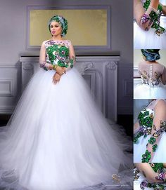 The year 2016 is bringing in so many mouth-watering trends in the wedding industry and we are amazed by the enchanting silhouette the bridal fashion designers are creating. For starters,… Traditional Wedding Attire, African Traditional Wedding, African Traditional Dresses, African Print Dresses, African Fashion Dresses, African Dress, Nigerian Fashion, Ghanaian Fashion, African Prints