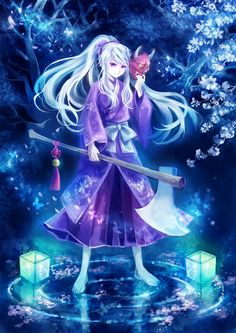 #anime #art #japanese #purple