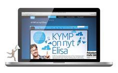 KYMP OY osa Elisaa -brändifuusio, 2014. Projektivastuu markkinointipäällikkö Tiina Puhakka, tuotanto markkinointiassistentti Sini Posti. – http://elisa.fi/kymp/