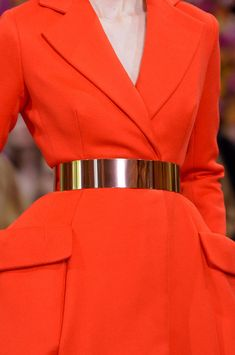 Metallic Belt Trend forFall Winter 2012.  Christian Dior Fall Winter 2012  #fashion #trends
