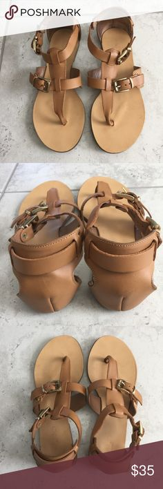 Aldo Leather Sandals Aldo leather sandals perfect for the  summer.  Made in Italy. Size 6, in excellent condition. Shoes Sandals