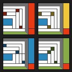 Frank Lloyd Wright Price Rug Design Sandstone Coaster Gift Set