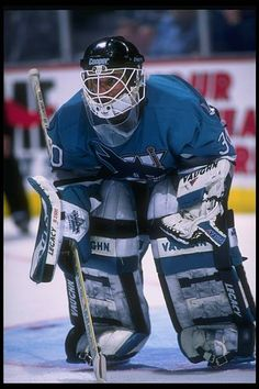 52596c5b6 Goaltender Chris Terreri of the San Jose Sharks looks on during a game  against the Anaheim