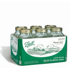 Ball® 64oz Wide Mouth Mason Jars (68100) - 6 Pack - Canning Jars - Ace Hardware Home Improvement Center - SB